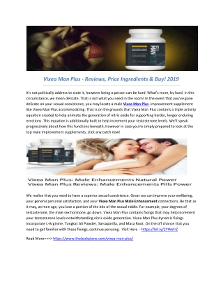 Vixea Man Plus - Reviews, Price Ingredients & Buy! 2019