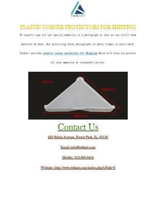 plastic corner protectors for Shipping
