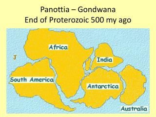 Panottia   Gondwana  End of Proterozoic 500 my ago