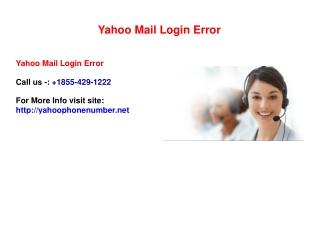 How to Fix 1855-429-1222 Yahoo Mail Error Login ?