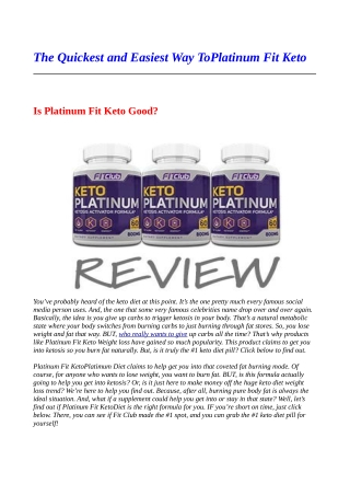 Is it true that you are Embarrassed By Your Platinum Fit KetoSkills? This is what To Do