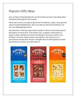Popcorn Gifts Ideas