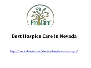 Best Hospice Care in Nevada