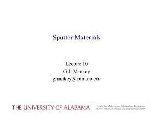 Sputter Materials