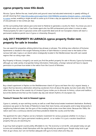 The Worst Advice You Could Ever Get About property for sale larnaca town centre cyprus