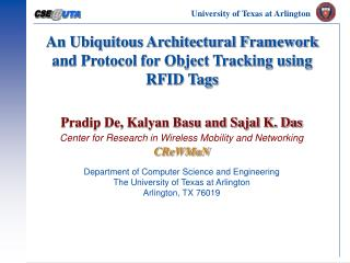 An Ubiquitous Architectural Framework and Protocol for Object Tracking using RFID Tags
