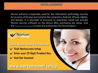 norton.com/setup | Norton is a US-based brand, You can simply start the installation