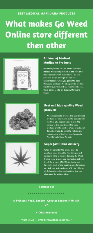 Why Go weed online store is a better option then other Medical Marijuana store