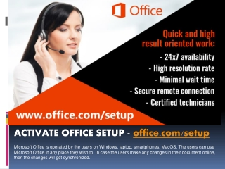 office.com/setup | The users can use Microsoft Office in any place Steps, to start installing