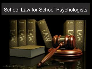 School Law for School Psychologists