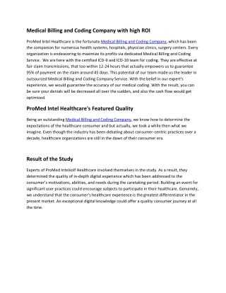 Medical Billing and Coding Company