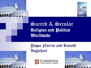 Sacred  Secular Religion and Politics Worldwide