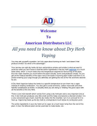 All you need to know about Dry Herb Vaping
