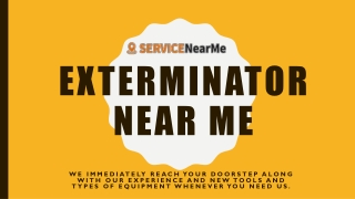 Exterminator Near Me-ppt