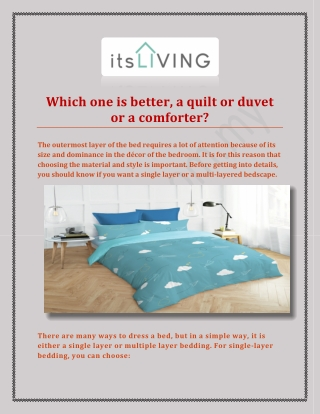 Comforters, Quilts and Duvets Malaysia from itsliving.com.my