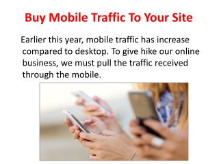 Buy Mobile Traffic For Your Website