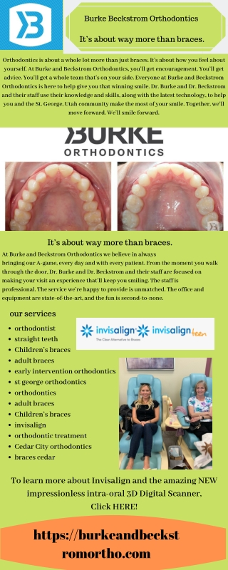 Burke Beckstrom Orthodontics services in st. George Utah