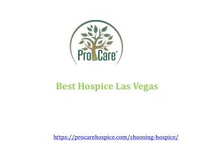 Best Hospice Las Vegas in Nevada