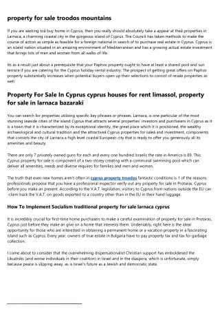 property for sale nicosia cyprus - Become a Resident in Cyprus By Investment