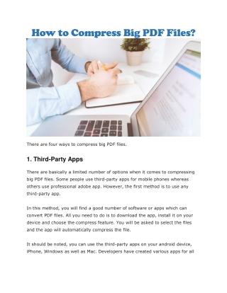 Compress big PDF files