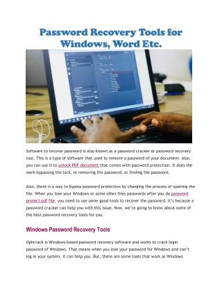 Unlock PDF document