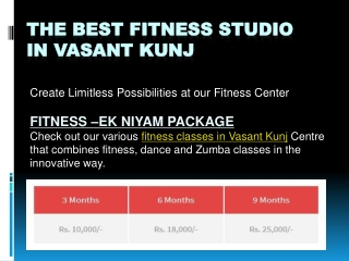Best Fitness Workout Classes, Centre and Personal Trainer in Vasant Kunj