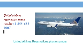 united airlines reservation phone number