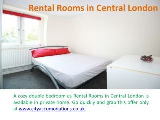 Room Rental London Students