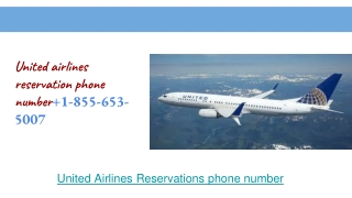 united airlines reservation customer phone number