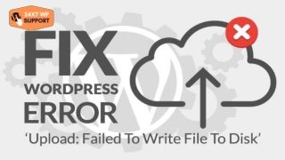 ARE YOU SUFFERING FROM DISC ERROR' IN WORDPRESS ENVIRONMENT?