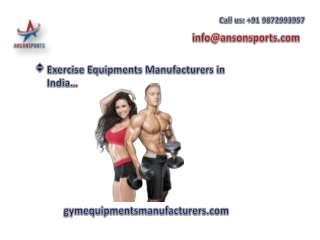 Commercial Gym and Fitness Equipment's in India