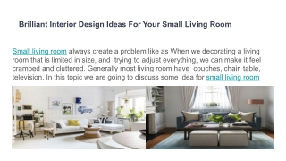 best ideas for small room