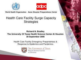 Health Care Facility Surge Capacity Strategies