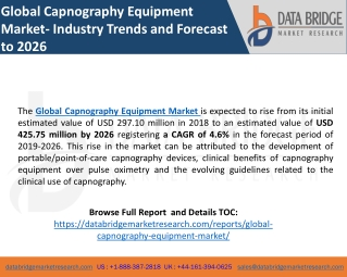 Global Capnography Equipment Market- Industry Trends and Forecast to 2026