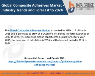 Global Composite Adhesives Market - Industry Trends and Forecast to 2024