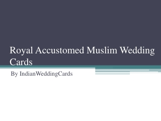 Muslim Wedding Invitations | IndianWeddingCards