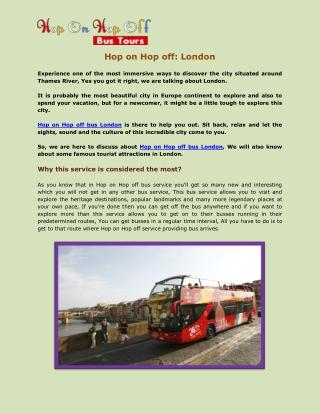 Hop on Hop off: London
