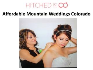 Affordable Mountain Weddings Colorado
