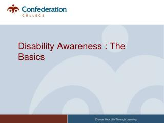 Disability Awareness : The Basics