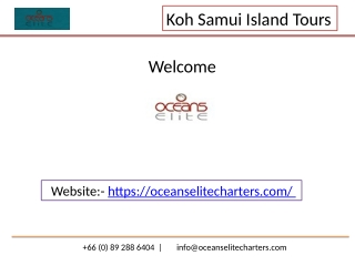 Koh Samui Island tours