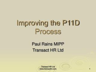 Improving the P11D Process