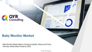 Baby Monitor Market Report: Company Analysis, History and Future Overview