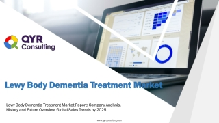 Lewy Body Dementia Treatment Market Report: Company Analysis, History and Future Overview