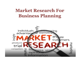 Market Research For Business Planning