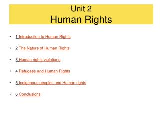 Unit 2 Human Rights