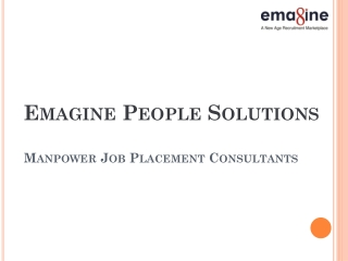 Manpower Job Placement Consultants- Emagine People Solutions