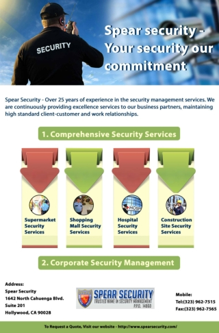 Spear security - Your security our commitment