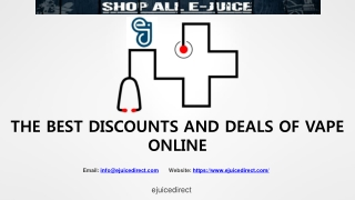 THE BEST DISCOUNTS AND DEALS OF VAPE ONLINE