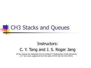 CH3 Stacks and Queues