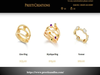 Gold Cable Rings at preetisandhu